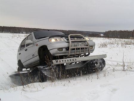 Вездеход Метелица по снегу