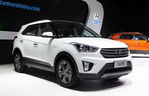 Hyundai ix25 2015 года на выставке