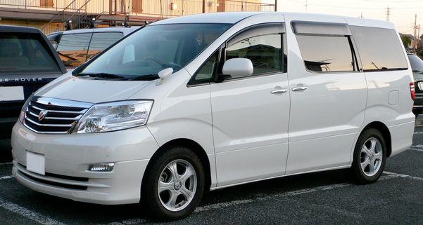 Белый Toyota Alphard
