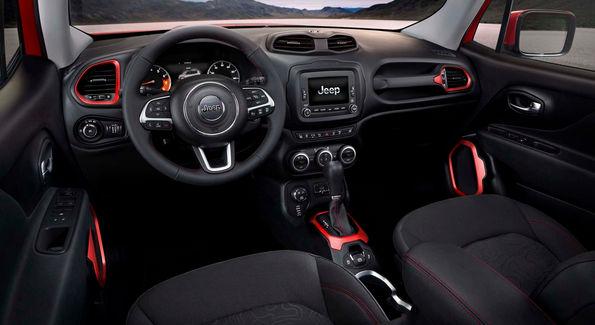 jeep Ренегат внешний вид приборной панели автомобиля