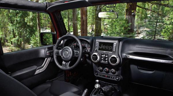 Джип Rubicon салон автомобиля, приборная панель
