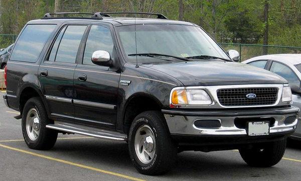 Ford Expedition 1997 вид спереди черного цвета