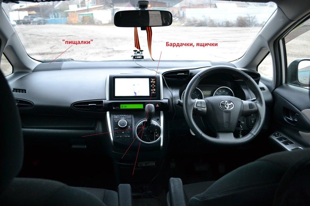 Салон автомобиля Toyota Wish