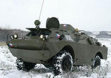 БРДМ по снегу