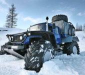 Очень странный внедорожник в снегу